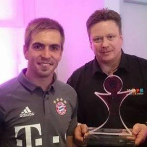 Philipp Lahm mit Wolfgang Ponto